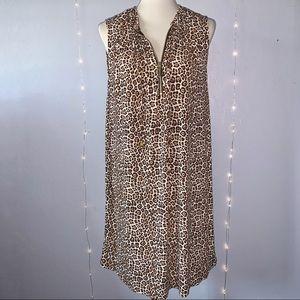[MICHAEL Michael Kors] Leopard Print Dress - 1X